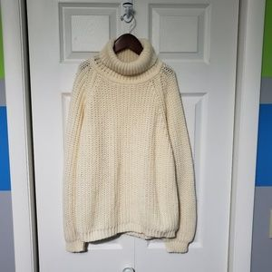 Vintage Thick Knit Cowl Neck Sweater